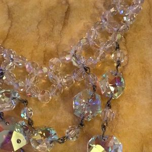 antique Jewelry - Antique aura crystal necklace